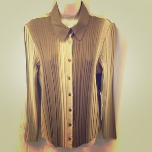 Josephine Chaus Brown Ombré Long Sleeve Top NWT